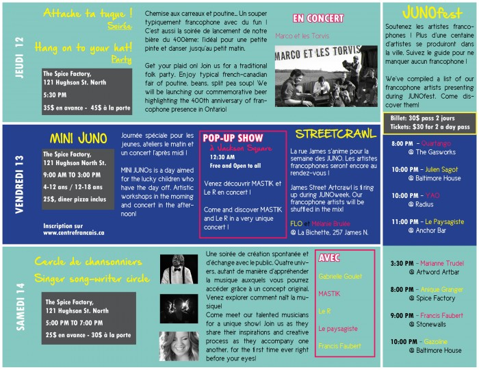 Programme Juno page 2